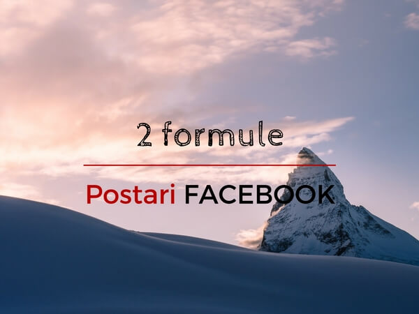 Postari pe pagina de Facebook a companiei – 2 formule